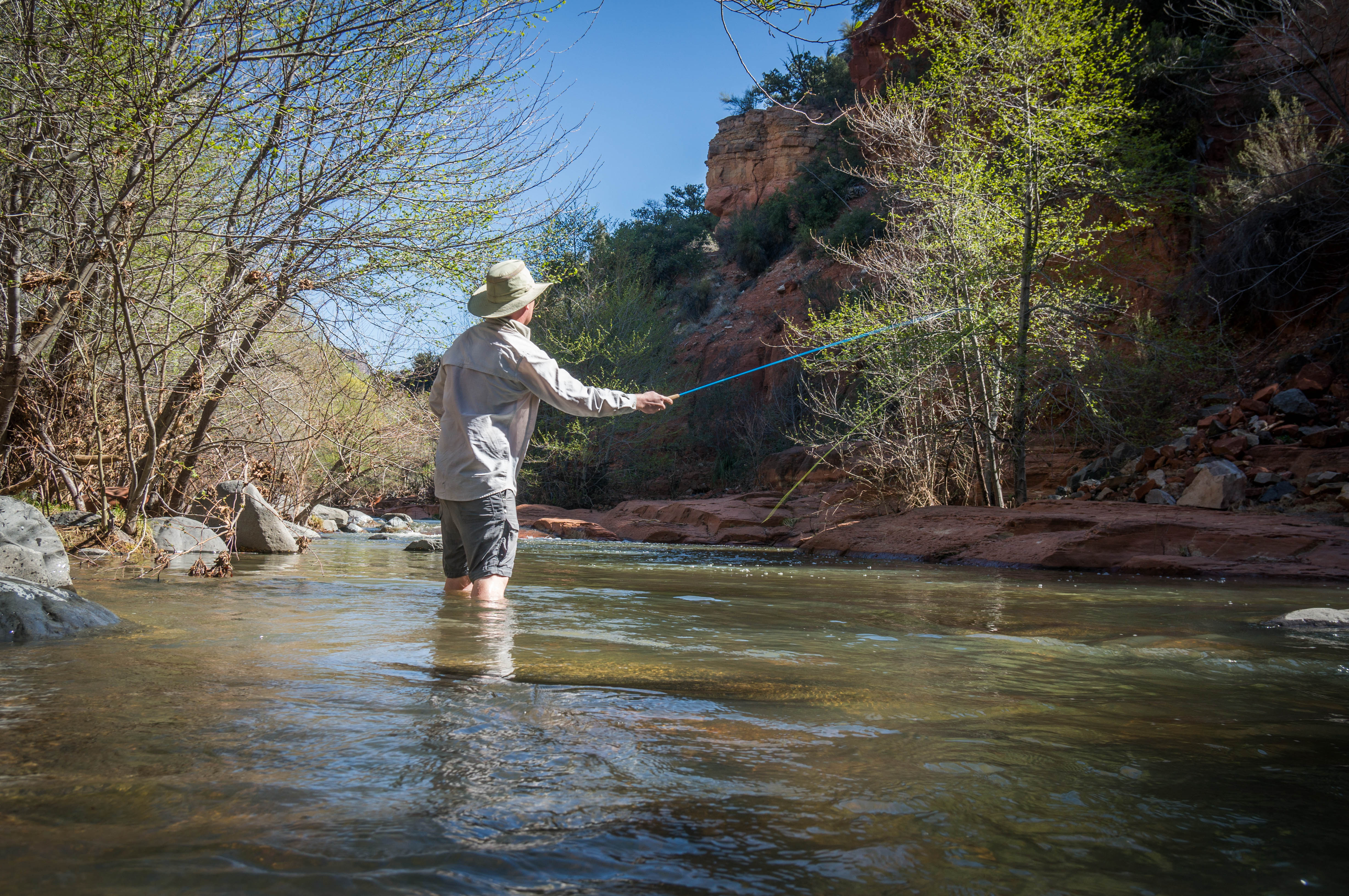 Spring fly fishing on west clear creek lesser places for Clear creek fishing