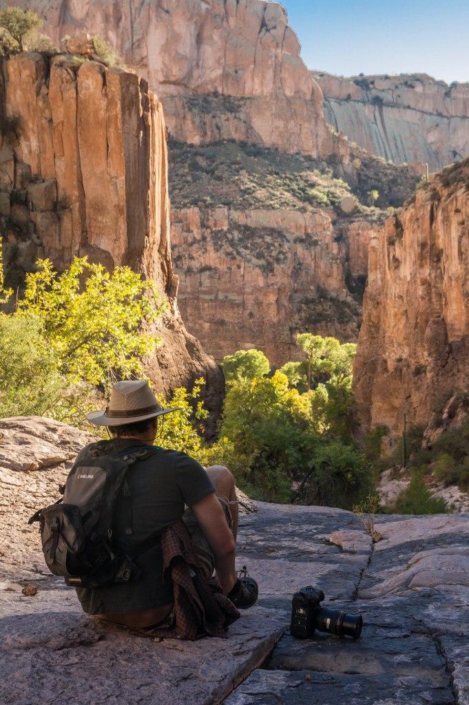 Horsethief Canyon, Looking towards Aravaipa Creek